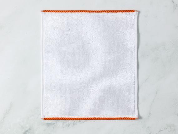 Prudence El Havlusu - Beyaz / Mor - 30x30 cm