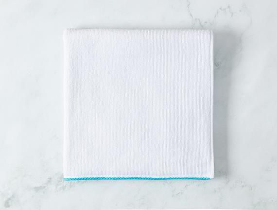 Prudence Banyo Havlusu - Beyaz / Mint Yeşili - 70x140 cm