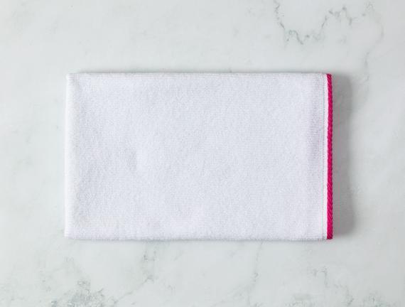 Prudence Yüz Havlusu - Beyaz / Pudra - 50x70 cm