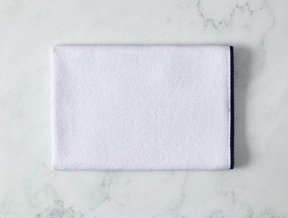 Prudence Yüz Havlusu - Beyaz / Lacivert - 50x70 cm