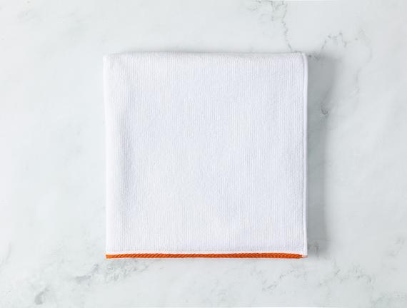 Prudence Banyo Havlusu - Beyaz / Turuncu - 70x140 cm