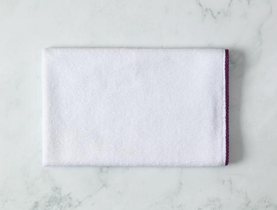 Prudence Yüz Havlusu - Beyaz / Mor - 50x70 cm