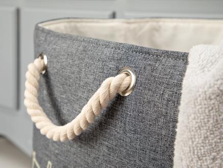 Gia Çamaşır Sepeti - Gri