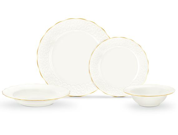 Attrayant New Bone China 8 Parça Yemek Takımı - Altın