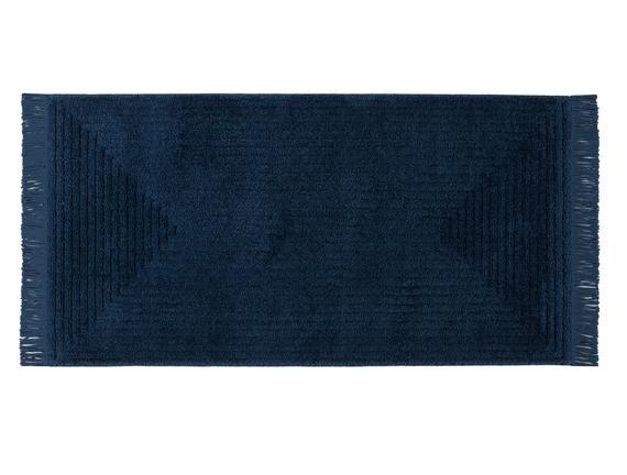 Diane Saçaklı Halı - Lacivert - 80x150 cm