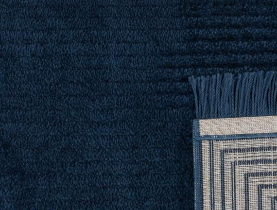 Diane Saçaklı Halı - Lacivert - 120x180 cm