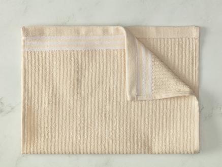 Garen Naturel El Havlusu - Beyaz - 30x45 cm