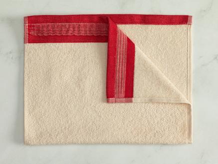 Alain Naturel El Havlusu - Kırmızı - 30x45 cm