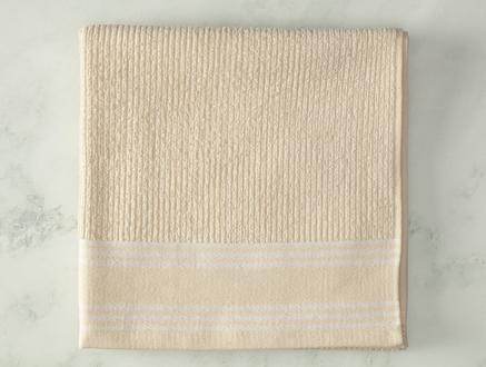 Garen Naturel Banyo Havlusu - Beyaz - 70x140 cm