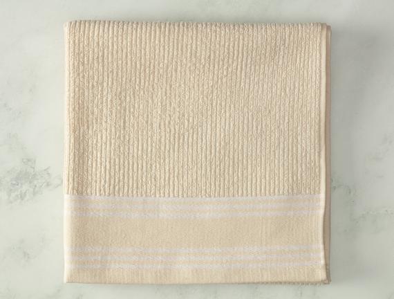 Garen Naturel Banyo Havlusu - Beyaz