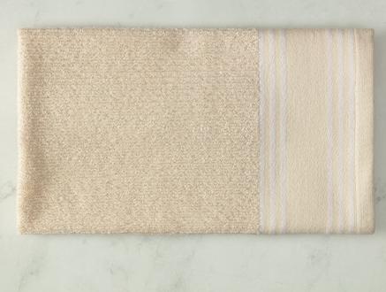 Garen Naturel Yüz Havlusu - Beyaz - 50x70 cm