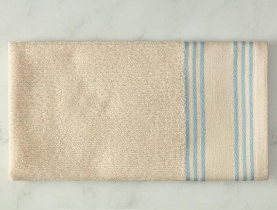 Garen Naturel Yüz Havlusu - Mavi - 50x70 cm