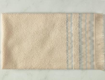 Darvell Naturel Yüz Havlusu - Mavi - 50x70 cm