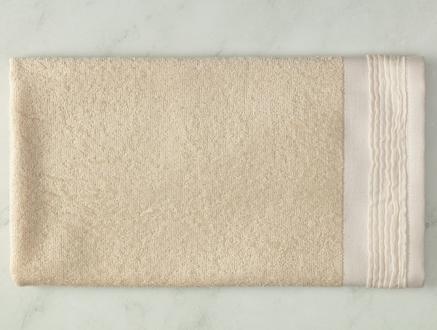 Alain Naturel Yüz Havlusu - Beyaz - 50x70 cm