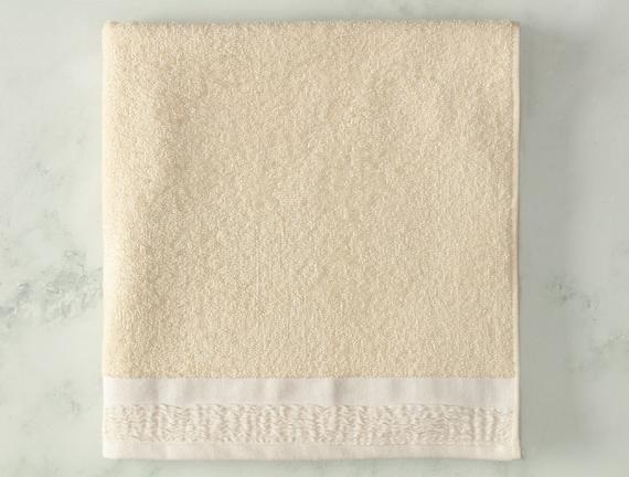 Alain Naturel Banyo Havlusu - Beyaz - 70x140 cm