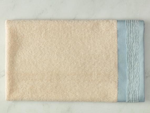 Alain Naturel Yüz Havlusu - Mavi - 50x70 cm