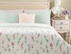 Zoe King Size Baskılı Yatak Örtüsü - Beyaz / Gri