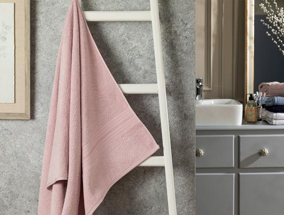 Roxane Banyo Havlusu - Açık Mürdüm - 70x140 cm
