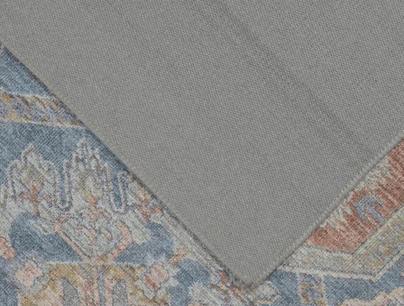 Alhertine Dijital Baskılı Halı - Mavi - 80x150 cm