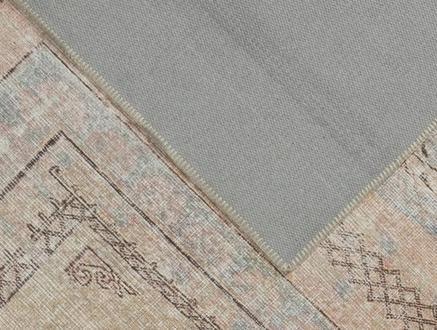Leron Dijital Baskılı Halı - Bej - 80x300 cm