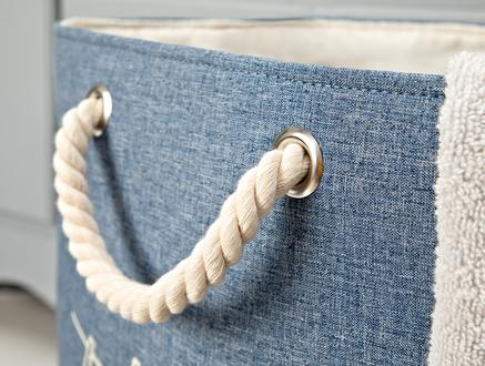 Gia Çamaşır Sepeti - Mavi - 38x53 cm