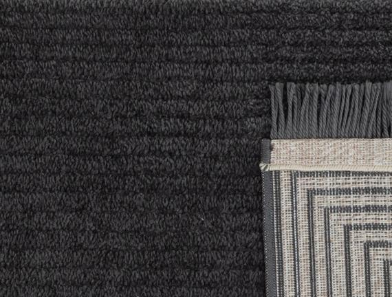 Diane Saçaklı Halı - Antrasit - 120x180 cm