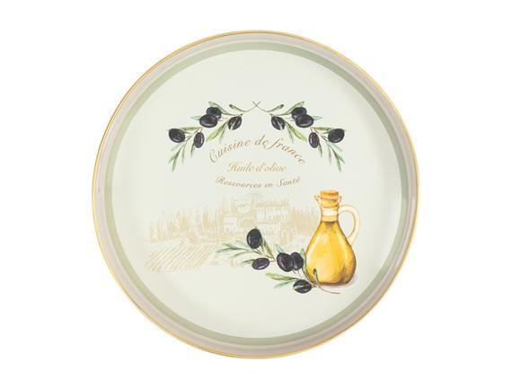 Olive Yuvarlak Tepsi 35x35 cm