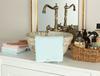 Bernice Kroşeli El Havlusu - Mint / Beyaz - 30x40 cm