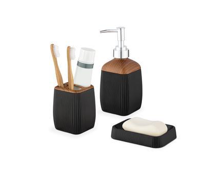 Bois 3'lü Banyo Seti - Siyah