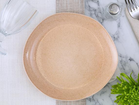 Patricia 4'lü Pasta Tabağı Seti - Pudra
