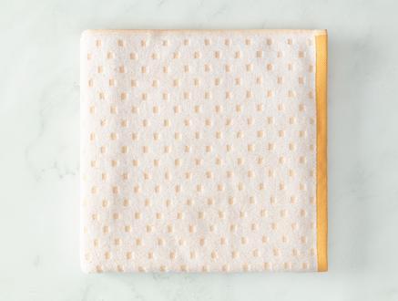 Arber Jakarlı Banyo Havlusu - Sarı / Beyaz - 70x140 cm