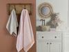 Leron Jakarlı Banyo Havlusu - Turuncu / Beyaz