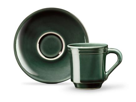 Beaute 2'li Kahve Fincan Seti - Yeşil
