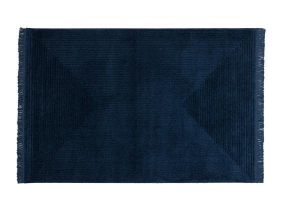 Diane Saçaklı Halı - Lacivert - 160x235 cm