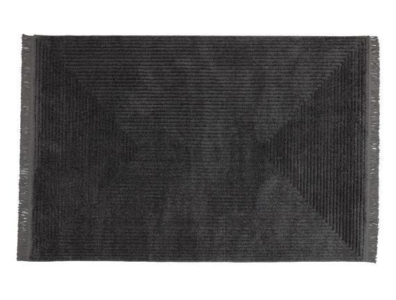 Diane Saçaklı Halı - Antrasit - 200x290 cm
