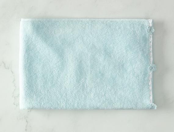 Bernice Kroşeli Yüz Havlusu - Mint / Beyaz - 50x70cm