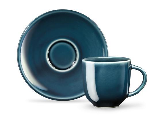 Morane 2'li Kahve Fincan Seti - Indigo