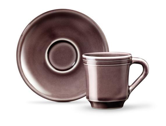 Beaute 2'li Kahve Fincan Seti - Mürdüm