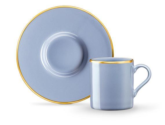 Lenora 2'li Kahve Fincan Seti - Duman Mavisi