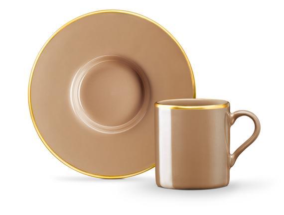 Lenora 2'li Kahve Fincan Seti - Bej