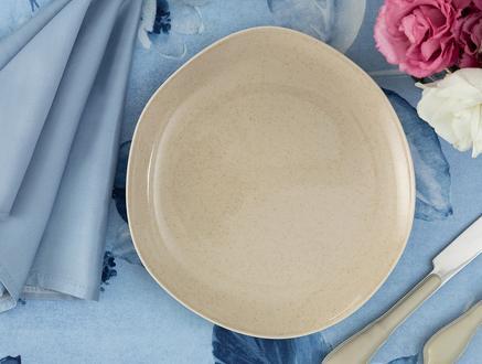 Patricia 4'lü Pasta Tabağı Seti - Bej