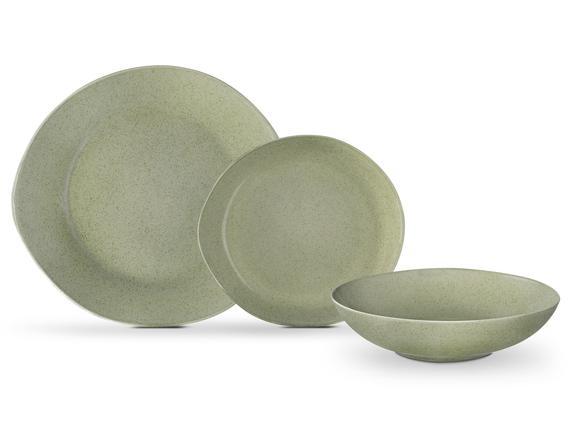 Patricia 6 Parça Yemek Takımı - Yeşil