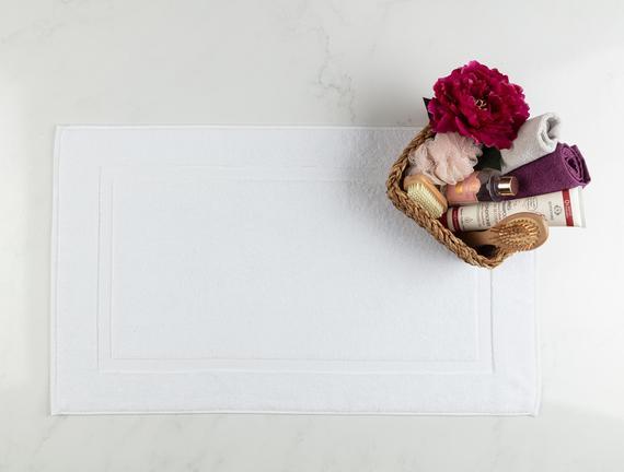 Saville Ayak Havlusu - Beyaz - 50x80 cm