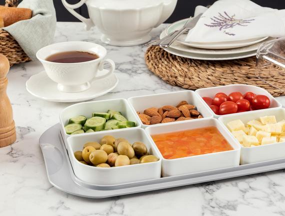Petit 6'lı Kahvaltılık - Soft Gri