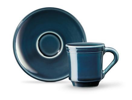 Beaute 2'li Kahve Fincan Seti - Indigo