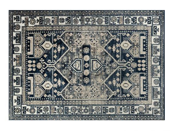 Delancy Halı - Lacivert / Bej - 120 x 170 cm