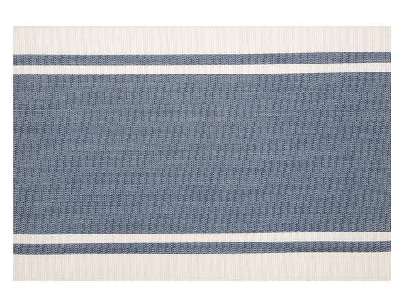 Adrianne 4'lü Amerikan Servis - Mavi - 30x45 cm