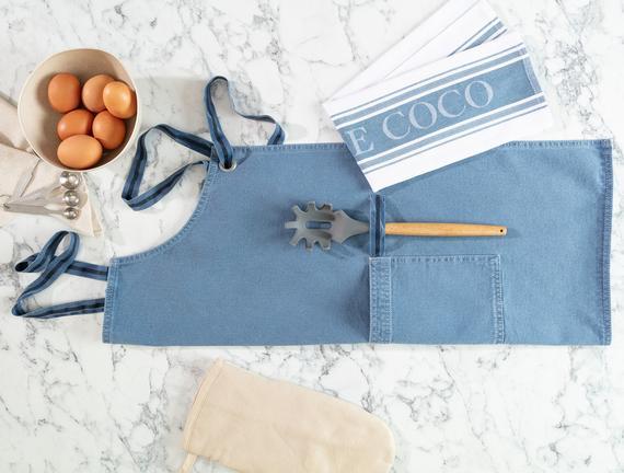 Fiori Mutfak Önlüğü - Açık Mavi