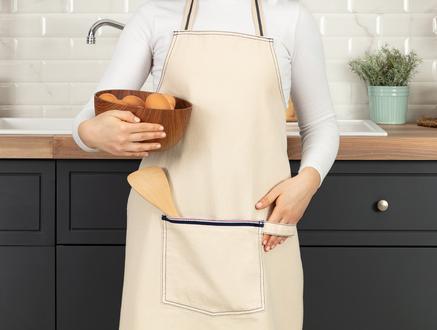 Fiori Mutfak Önlüğü - Bej