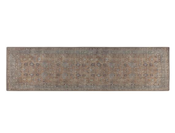 Leandre Dijital Baskılı Halı - Hardal / Gri - 80x300 cm